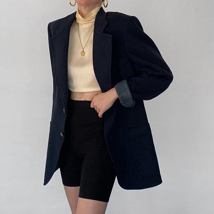 Vintage Christian Dior Midnight Cashmere Blazer
