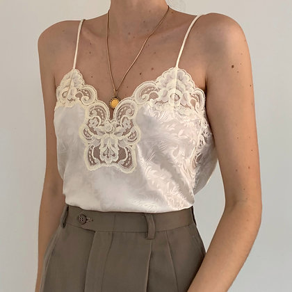 Vintage Ivory Lacy Camisole