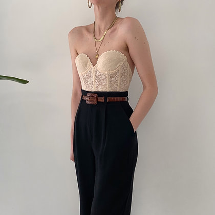 Vintage Noir High-Waisted Trousers (25W)