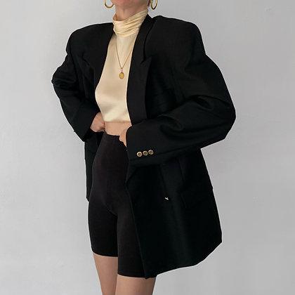 Vintage Oscar de la Renta Noir Wool Blazer