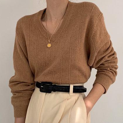 Vintage Camel Knit Pullover Sweater