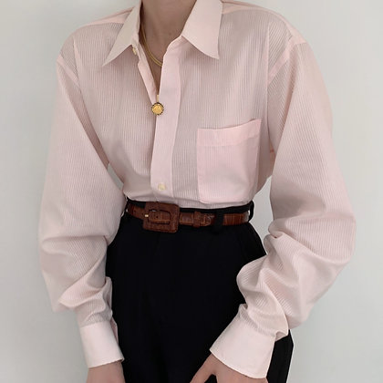 Vintage Dior Blush Pocketed Button Up Blouse