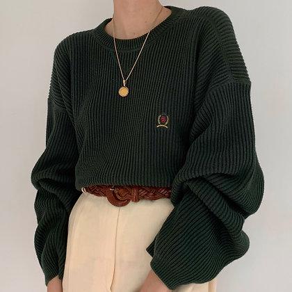 Vintage Tommy Hilfiger Forest Green Knit Pullover