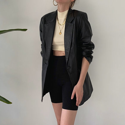 Favorite Vintage Noir Leather Blazer