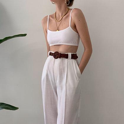 Vintage White Trousers (25-26W)