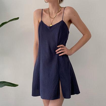 Vintage Deep Violet Silk Slip Dress