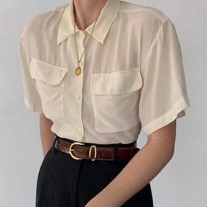 Vintage Oscar de la Renta Ivory Silk Blouse