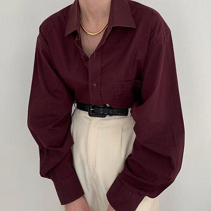 Vintage Guy Laroche Aubergine Button Up