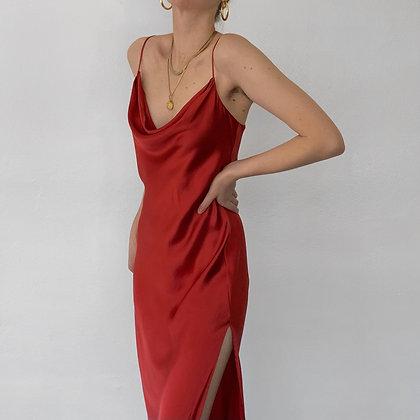 Vintage Victoria's Secret Ruby Silk Gown