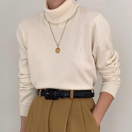 Vintage Ralph Lauren Cream Knit Turtleneck
