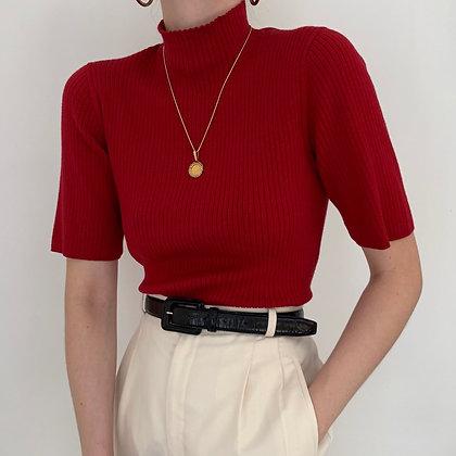 Vintage Anne Klein Crimson Mock Neck
