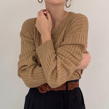 Vintage Saks Camel Silk Cashmere Knit
