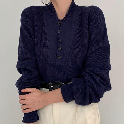 Vintage Ralph Lauren Navy Knit Henley