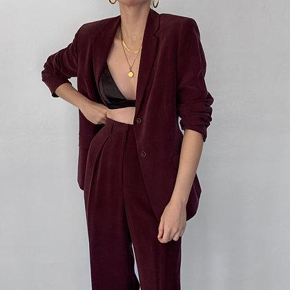 Favorite Vintage Plum Silk Pantsuit