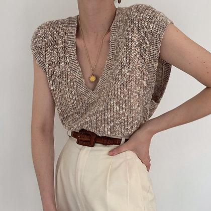 Vintage Calvin Klein Knit Sleeveless V-Neck