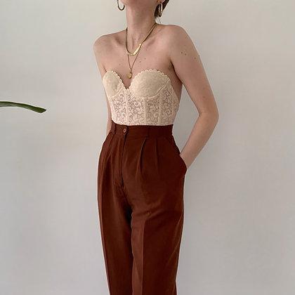 Vintage Cinnamon Silk Trousers (27W)
