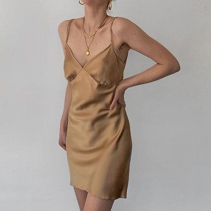 Vintage Victoria's Secret Gold Silk Slip Dress