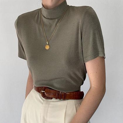 Vintage Sage Slinky Mock Neck Shirt