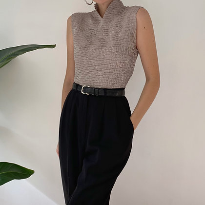 Vintage Black High-Waisted Trousers (26W)