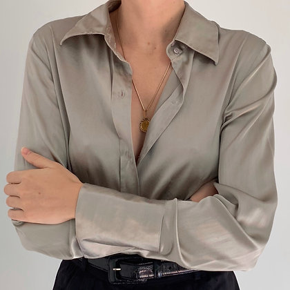 Vintage Steel Liquid Silk Bodysuit
