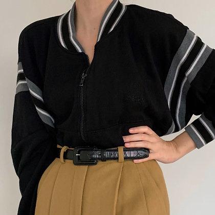 Rare Vintage Dior Black Varsity Jacket