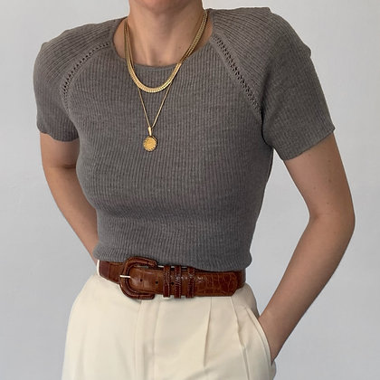 Deadstock Vintage Valentino Ash Knit Top