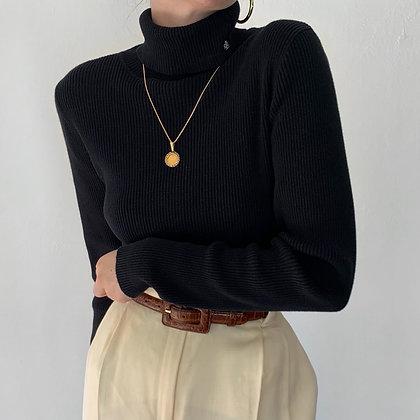 Vintage Ralph Lauren Onyx Knit Turtleneck
