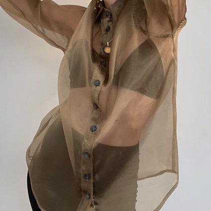 Vintage Bronze Sheer Button Up