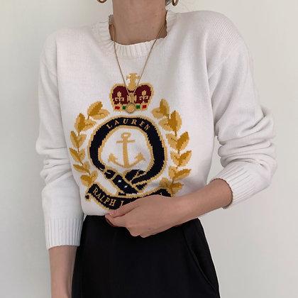 Rare Vintage Ralph Lauren Crest Pullover