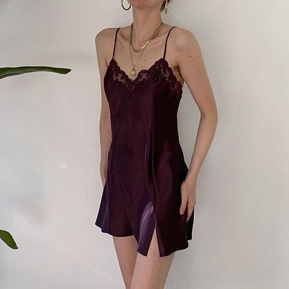 Vintage VS Aubergine Satin Slip Dress