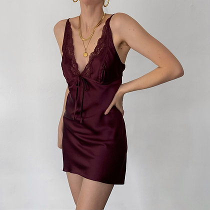 Vintage Victoria's Secret Plum Silk Slip Dress