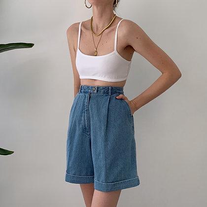 Vintage Denim High-Waisted Shorts (26-27W)