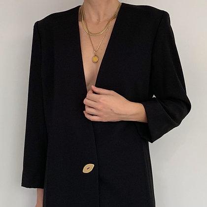 Vintage Minimalist Black Blazer