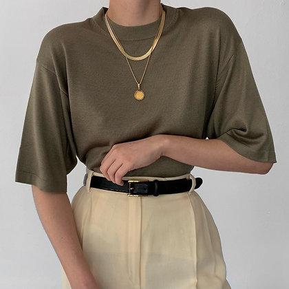 Favorite Vintage Sage Silk Knit Shirt