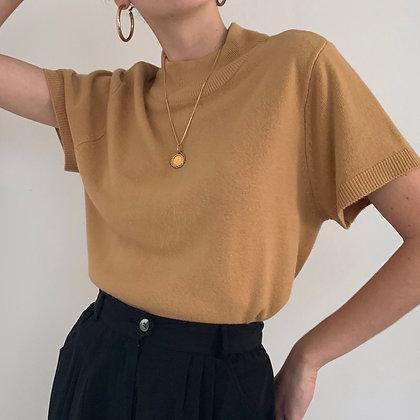 Vintage Camel Mock Neck Shirt