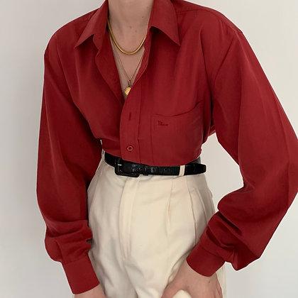 Vintage Dior Carmine Button Up Blouse