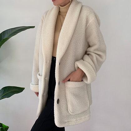Vintage Cream Teddy Bear Coat