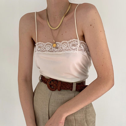 Vintage Dior Eggshell Lace Camisole