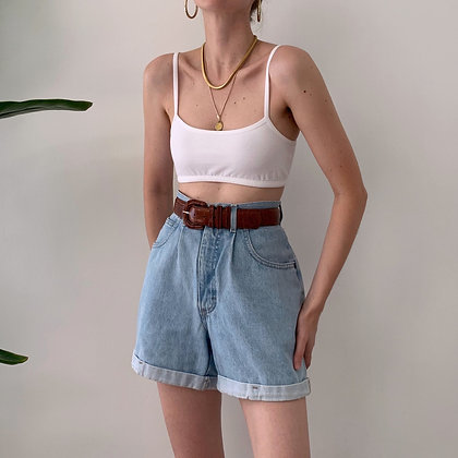 Vintage Denim High-Waisted Shorts (27W)