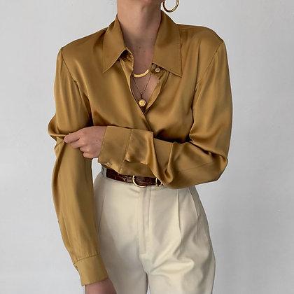 Vintage Lafayette 148 Honey Silk Blouse