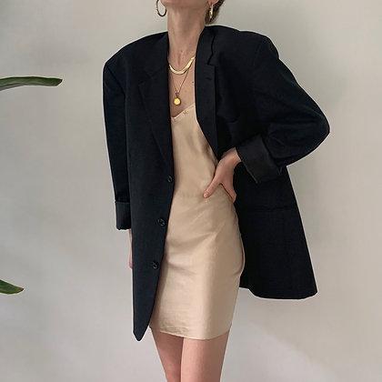 Vintage Yves Saint Laurent Noir Wool Blazer