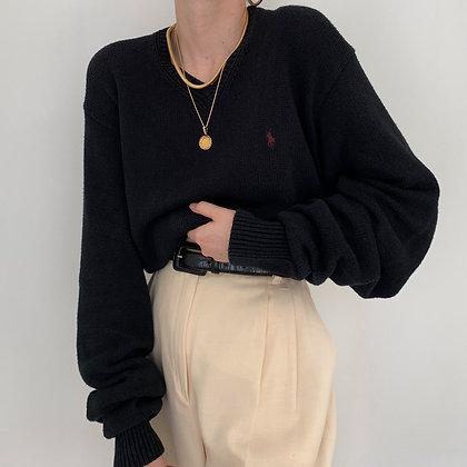 Vintage Ralph Lauren Onyx Knit Sweater