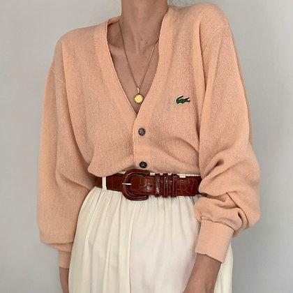 Vintage Lacoste Blush Knit Cardigan