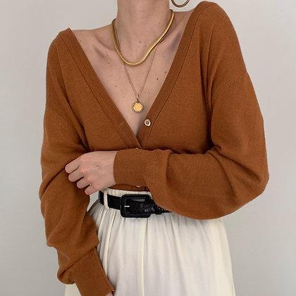 Vintage Rust Knit Cardigan