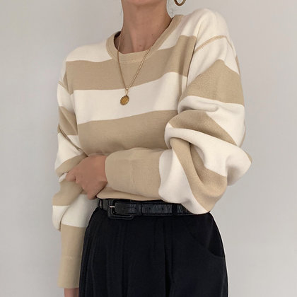 Vintage Izod Striped Knit Pullover