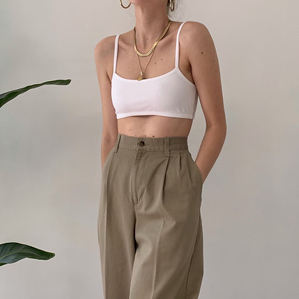Vintage Taupe High-Waisted Trousers (27W)