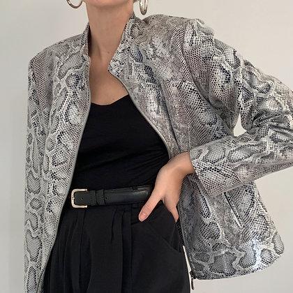 Vintage Snakeskin Print Jacket