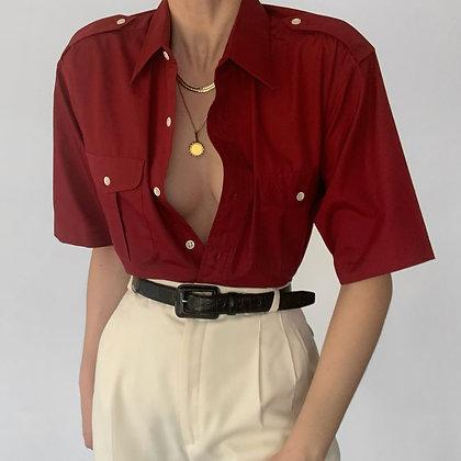 Vintage Dior Garnet Pocketed Button Down