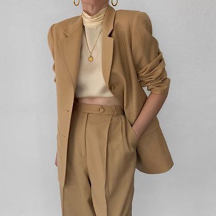 Vintage Camel Wool Pantsuit (27W)