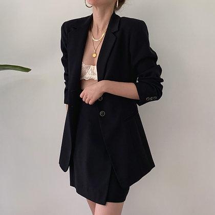 Favorite Vintage Midnight Skirt Suit